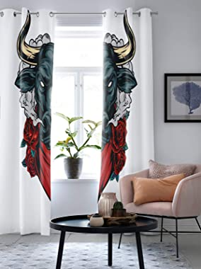 Window Panel Pair with Grommet Top, 2 Panels Thermal Curtain Drapes Insulated Window Treatments Privacy Curtain for Bathroom
