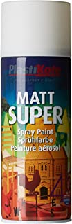 Plasti-kote 3100SE 400ml Super Matt Spray Paint - White