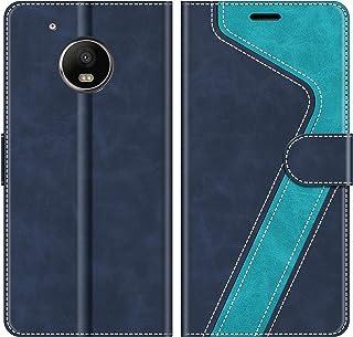 MOBESV Funda para Motorola Moto G5 Plus, Funda Libro Motorola Moto G5 Plus, Funda Móvil Motorola Moto G5 Plus Magnético Carcasa para Motorola Moto G5 Plus Funda con Tapa, Azul