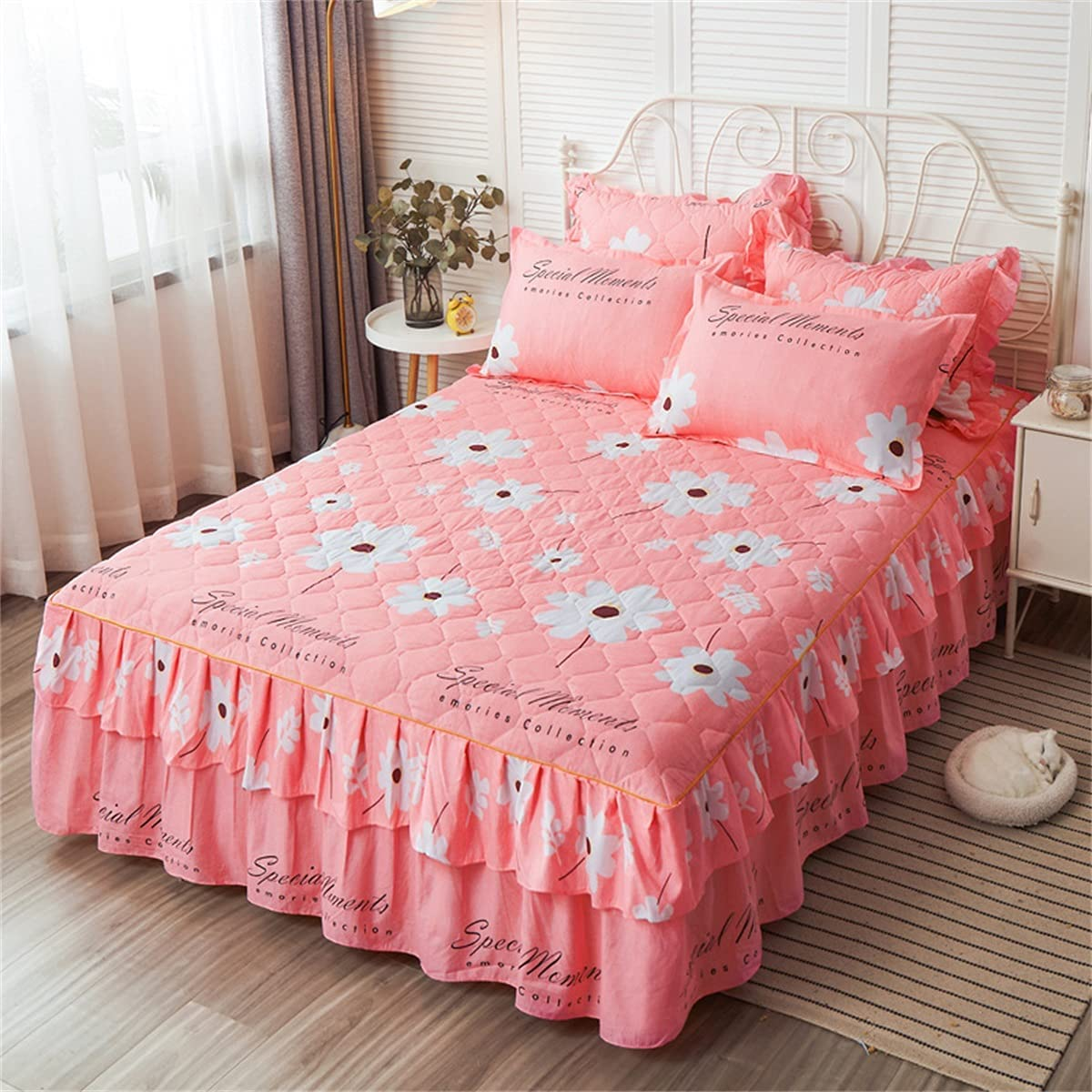 Industry No. 1 CHLDDHC 3-Piece Set Fitted New Shipping Free Shipping Bed Gau Skirt Coverlet lace Bedspread