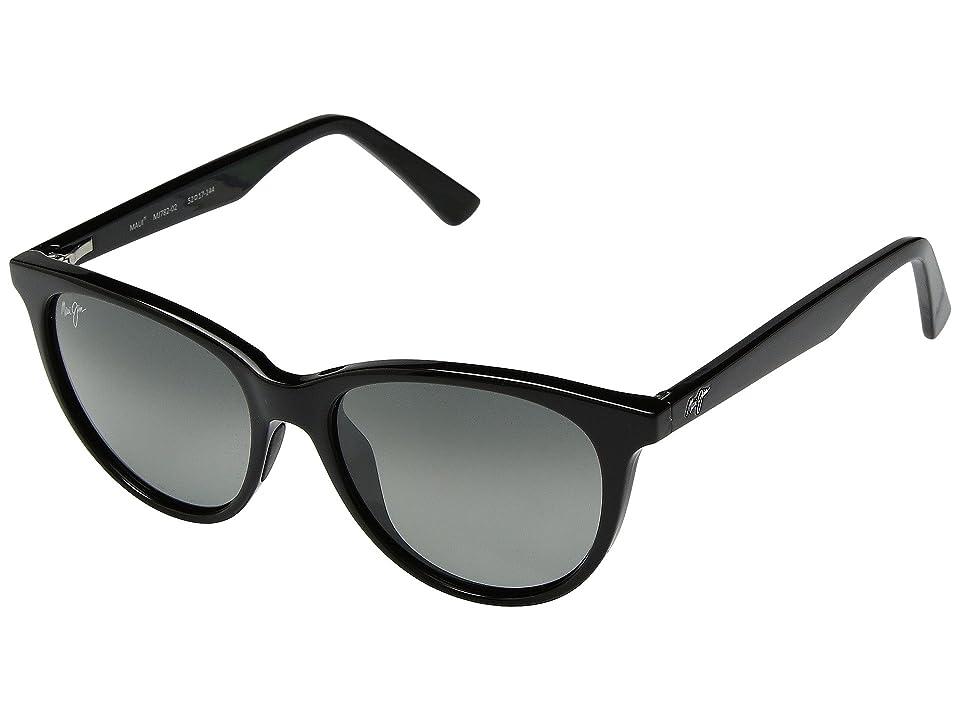 Maui Jim Cathedrals (Gloss Black/Neurtal Grey) Sport Sunglasses