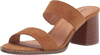 Amazon Essentials Women's Two Strap Heeled Slide Sandal