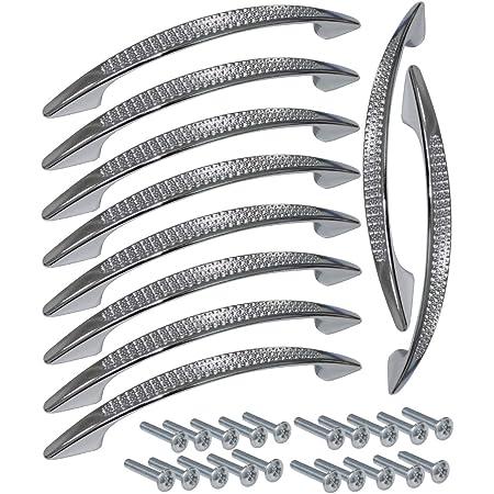 """Qualité 2x Chrome Silver Front Fix Poignée 4/""""//100mm tiroir//placard//armoire Porte"""