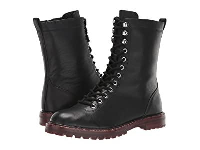 J.Crew Leather Lace-Up Micah Boot (Black) Women