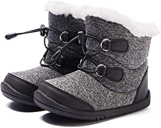 Toddler Winter Snow Boots Boys Girls Cold Weather Baby Faux Fur Shoes (Infant/Toddler/Little Kid)