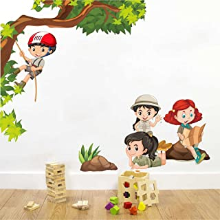 Rawpockets Decal ' Kids Activity ' (Material - PVC Vinyl Matte Finish, Wall Coverage Area - Height 85cm X Width 100cm) ( P...