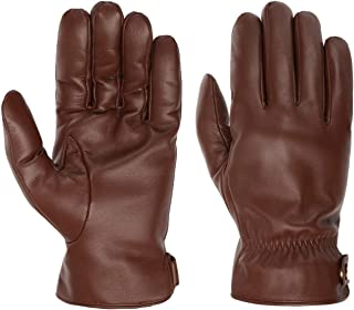 Stetson Guantes de Piel Conductive Hombre - con dedos forro