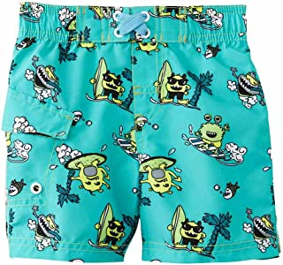 Joe Boxer Infant Boys Blue Green Surf Monster Swim Trunks Board Shorts f51790b3a