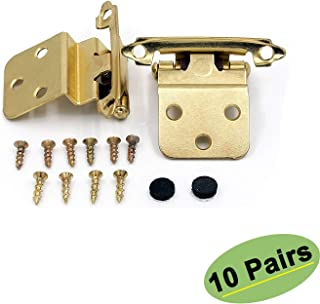 4 Pieces Gold Cabinet Closet Mini Hinge Dollhouse Wood Door Butt M01152 small b7