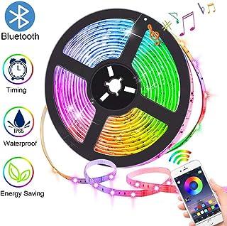 Tiras de luces LED con control Bluetooth por aplicación, la