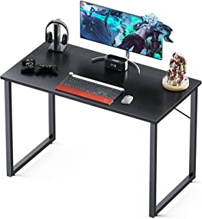 """میز کامپیوتر Coleshome 31 """"، میز مدرن سبک ساده برای دفتر خانه ، میز تحریر محکم ، سیاه"""