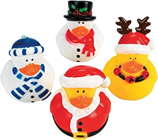 Holiday Christmas Rubber Duckies (Pack of 12)