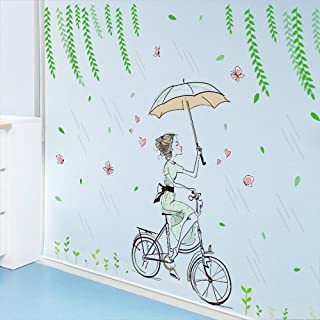 WOCACHI Wall Stickers Decals New Flower Fairy Girl Stickers Bedroom Living Room Wall Stickers Home Decor Art Mural Wallpaper Peel & Stick Removable Room Decoration Nursery Decor