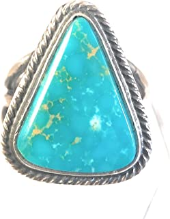 Tommy Jackson Kingman Turquoise Sterling Ring Size 8.5 Signed