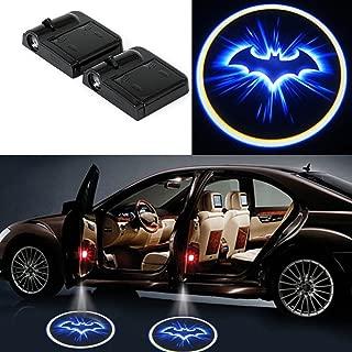 DELEIKA 2 x LED Car Door Welcome Light Laser Car Door LED Projector Logo Wireless Car Welcome Door Ghost Shadow Lights For Batman