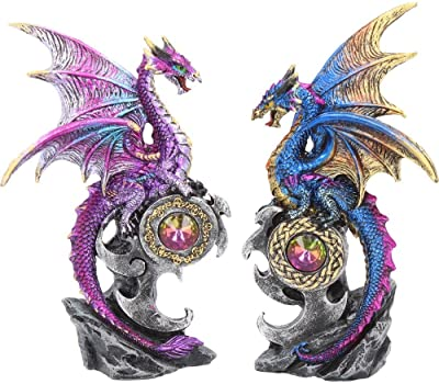 Nemesis Now Realm Protectors (Set of Two) Figurine 15cm Purple