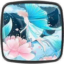 Keukenkast Knoppen - Beauty Angel Butterfly Flower - Knoppen voor dressoir laden voor kast, kast, badkamer of kantoor - Pa...