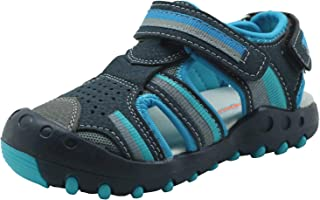 Apakowa Kid's Boy's Summer Outdoor Athletic Double Strap Closed-Toe Water Sandals (Toddler/Little Kid)