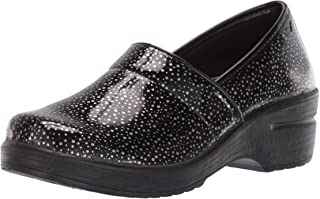 Easy Works Women's Lyndee Health Care Professional Shoe, Blk Rain Drps, 6 2W US