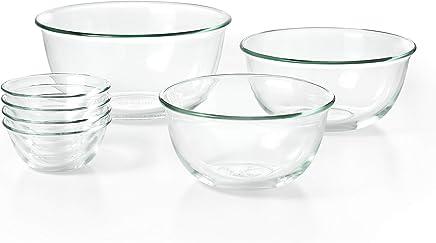 Preisvergleich für Schüssel-Set, 3-teilig 7-teiliges, Schüssel-Set Four 10 oz Glass Bowls, 4.5 Qt Glass Bowl, 2.5 Qt Glass Bowl and 1.5 Qt Glass Bowl farblos