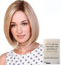Bundle - 2 items: Lady Latte Wig by Belle Tress, Christy's Wigs Q & A Booklet - Color: Honey with Chai Latte