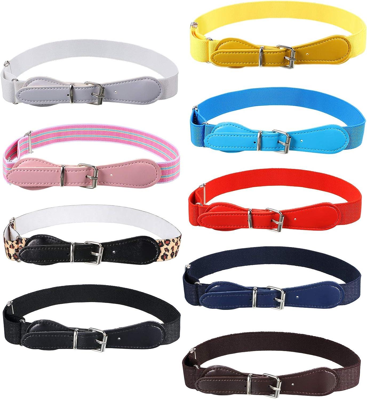 SATINIOR 9 Pieces Kids Adjustable Elastic Belt Kids Toddler Belts...