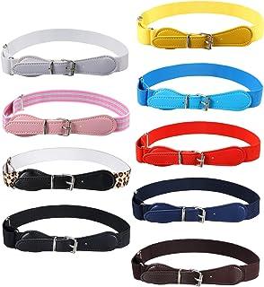 9 Pieces Kids Adjustable Elastic Belt Kids Toddler Belts...