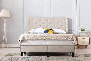 Home Life Beige furbed000052_Cloth queen Platform