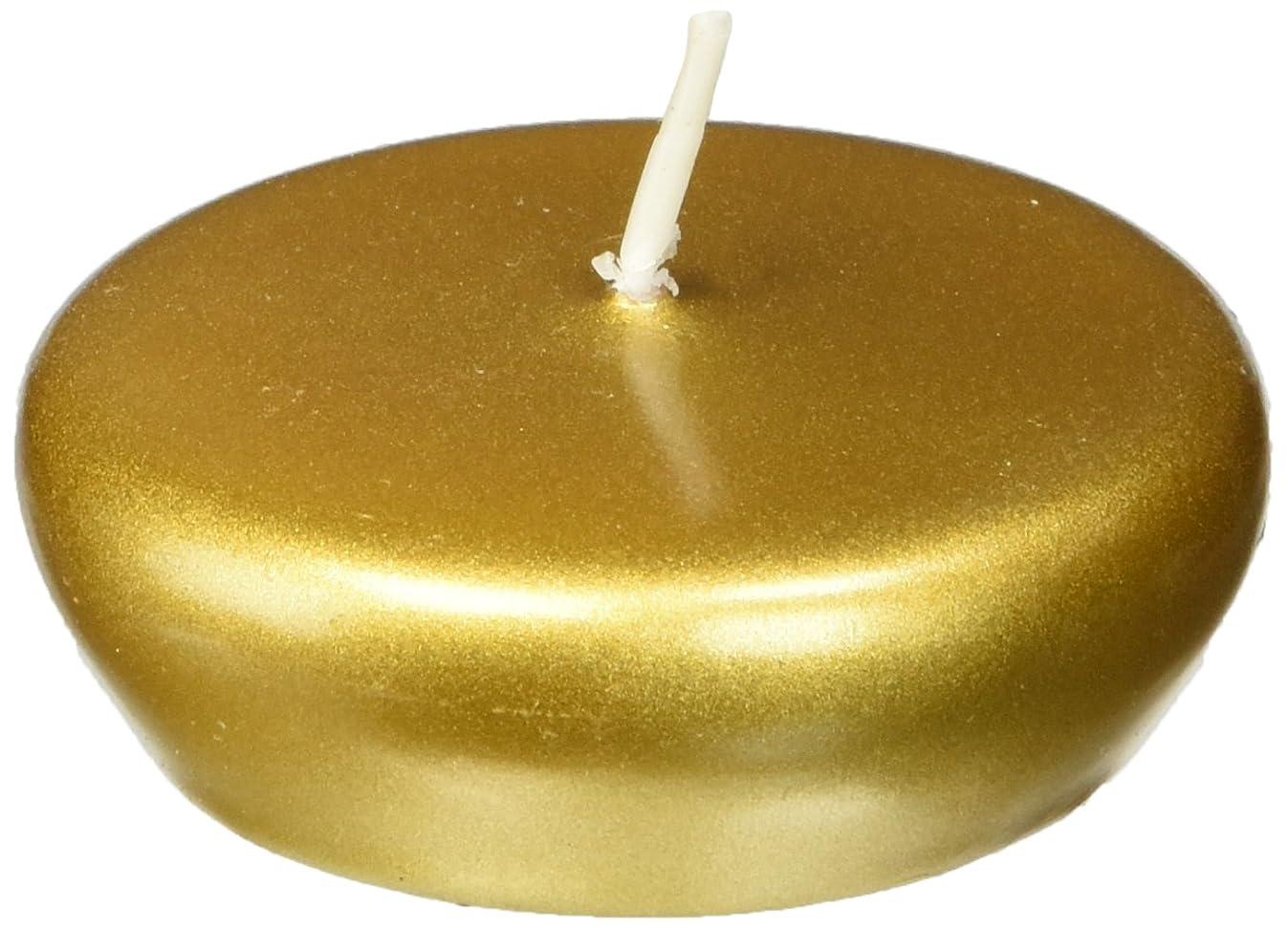 Zest Candle 24-Piece Folding Candles, 2.25-Inch, Metallic Bronze Gold