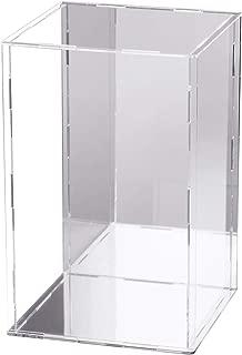 JINGBAN フィギュアケース コレクションケース 3mm ディスプレイケース アクリル 透明 (台座ミラー+背面ミラー, 15*15*25cm)