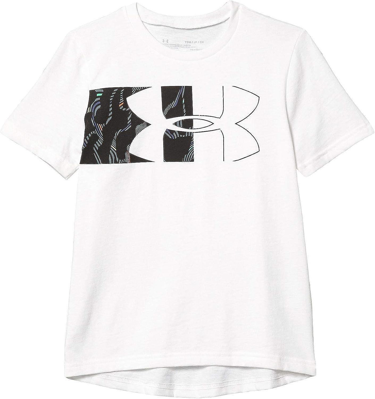 Under Armour Boys Split Logo Print Fill Short Sleeve T-Shirt