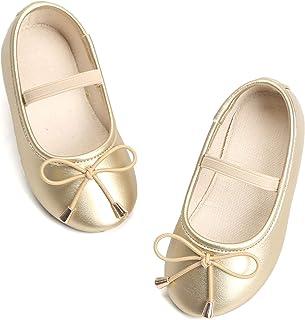 4dcd3edf32 Bear Mall Little Girl Flats Slip-on Ballet Flats Black Uniform Mary Jane  Shoes for