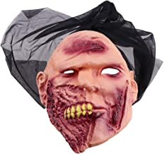 Una máscara de mueca decorada,una máscara de Goma creativa,una máscara de muesca reutilizable,un disfraz de Halloween,una máscara de terror.