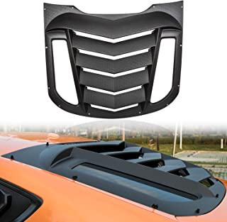 Camoo for Ford Mustang 2015-2019 Rear Window Louver Sports Look Sun Shade Windshield Cover Protector ABS