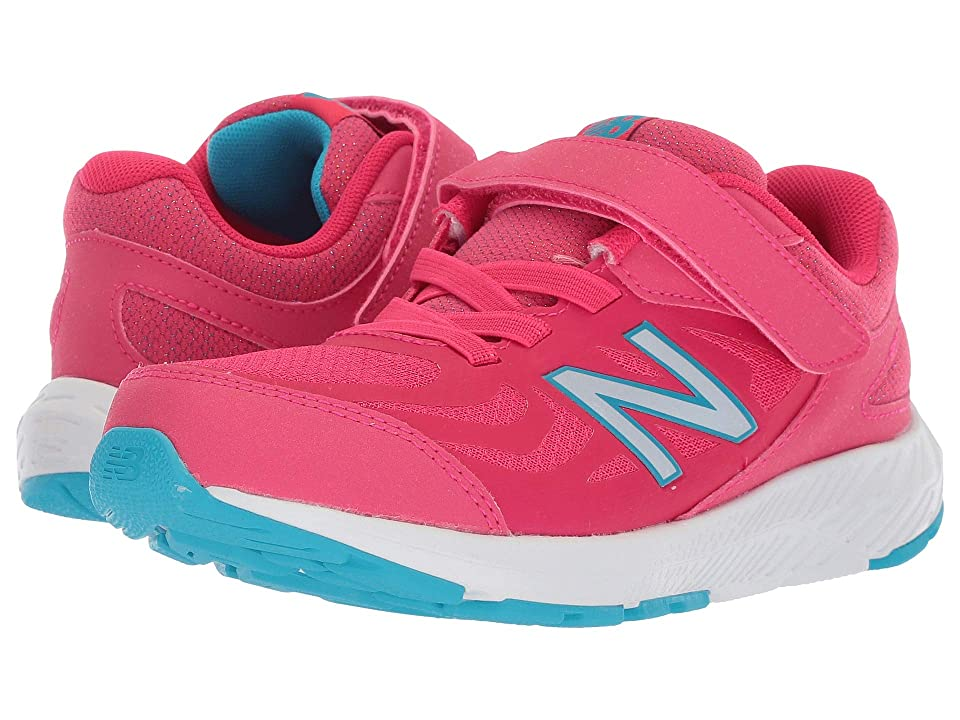 New Balance Kids KV519v1Y (Little Kid/Big Kid) (Pomegranate/Rainbow) Girls Shoes