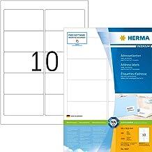 HERMA 4667 Adressaufkleber DIN A4 (96 x 50,8 mm, 100 Blatt,