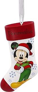 Hallmark Christmas Ornaments, Disney Mickey Mouse Stocking Personalized Ornament