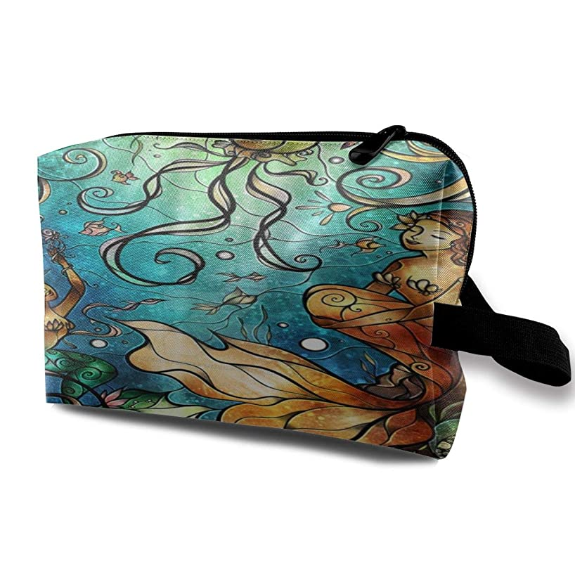 扱うクルーズ検出可能Mermaid Under The Sea.jpeg 収納ポーチ 化粧ポーチ 大容量 軽量 耐久性 ハンドル付持ち運び便利。入れ 自宅?出張?旅行?アウトドア撮影などに対応。メンズ レディース トラベルグッズ