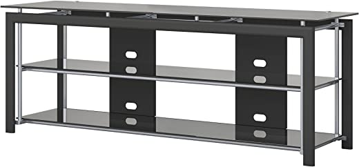 TV & Media Furniture ✅Bush Furniture Midnight Mist 65W TV Stand for Flat Screens in Black