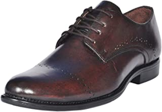 Zoom Brown Formal Shoes for Men Genuine Leather Lace Up Shoe
