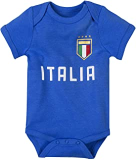 Unisex Newborn Infant Clothing Baby Boys Girls Italia Unique Soccer Onesie Bodysuit | Italia Soccer Baby Outfits