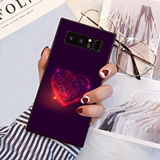 Samsung Galaxy Note 8 Square Edge Case Heavy Duty Protection Shock Absorption Slim Soft TPU Cover Starry Sky Space Pattern for Samsung Galaxy Note 8