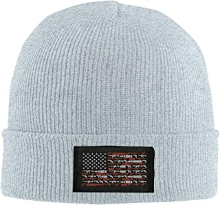 Red-Christ Unisex American Flag Weapon Fashion Warmth Four Colors Beanie Hats Skull Cap