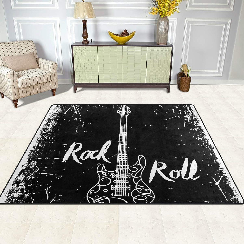 FAJRO Electric Guitar Rock and Roll Rugs for entryway Doormat Area Rug Multipattern Door Mat shoes Scraper Home Dec Anti-Slip Indoor Outdoor