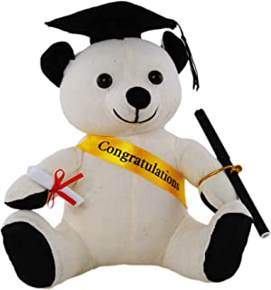 Graduation Autograph 20cm Signature Bear Seated with Sash Pen Hat Scroll Plush Stuffed Teddy Bear Graduation Gift or Decor...