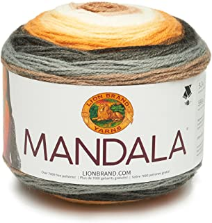 Lion Brand Yarn Company Lion Brand Hilo 525–219Mandala, acrílico, Brownie, 13,97x 13,97x 10,16cm