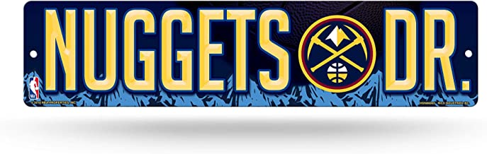 NBA Denver Nuggets 16-Inch Plastic Street Sign Décor