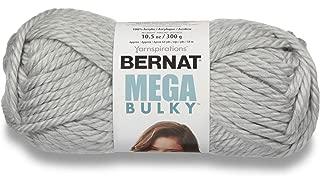 Bernat 16118888046 Mega Bulky Yarn, 10.5 Ounce, Light Grey Heather