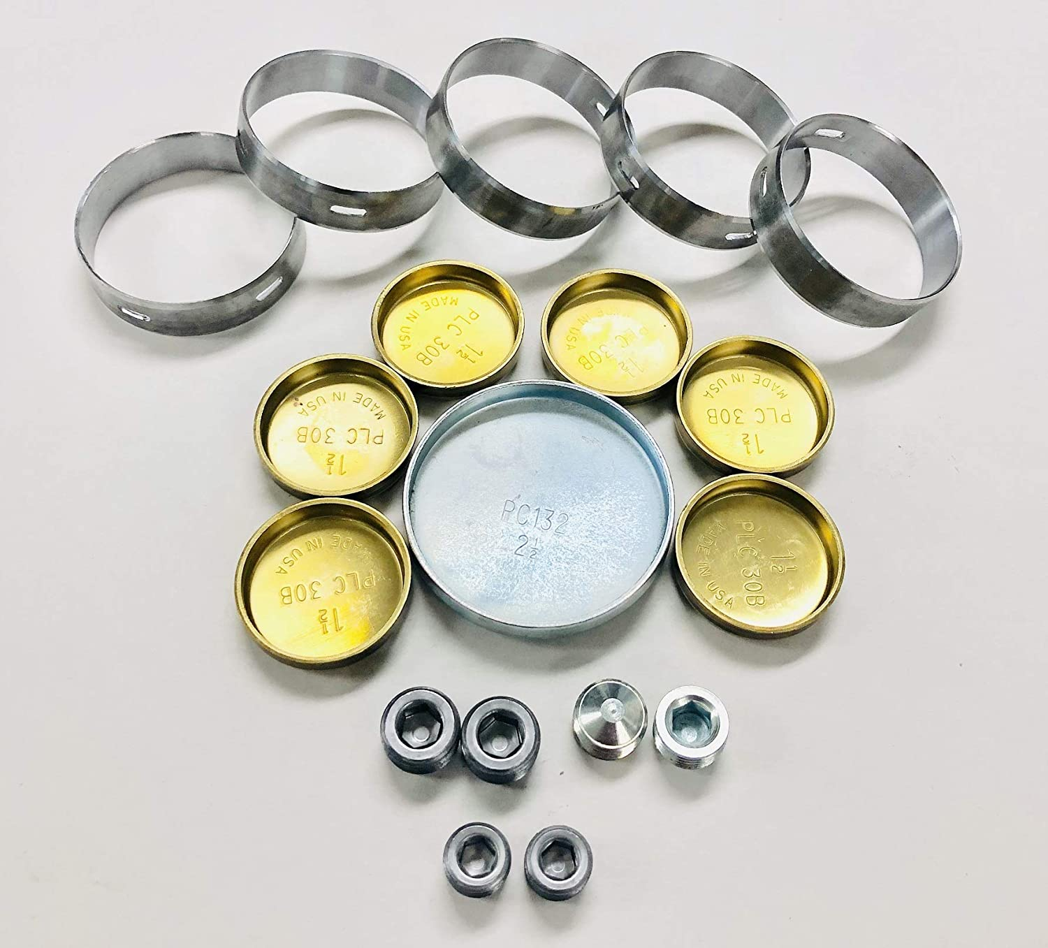 USA 定番キャンバス made Elgin Brass Freeze Plug Set co and 安全 Clevite Bearings Cam