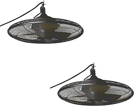 Set Of Two No L1120h Valdosta 20 In Oil Rubbed Bronze Downrod Mount Ceiling Fan 3 Blade Allen Roth Ceiling Fans Amazon Canada